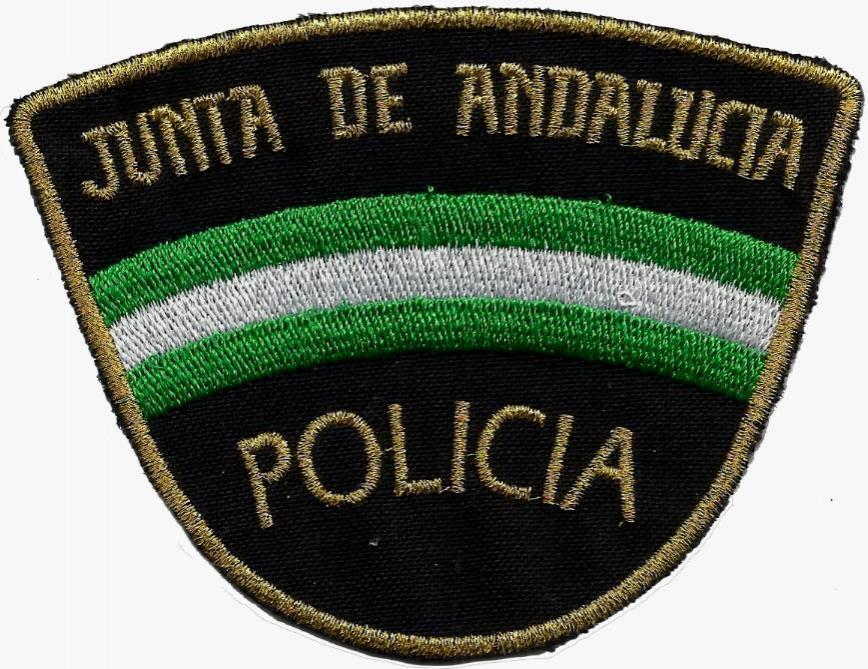 Policía nacional CNP unidad adscrita a la Junta de Andalucía parche insignia emblema distintivo