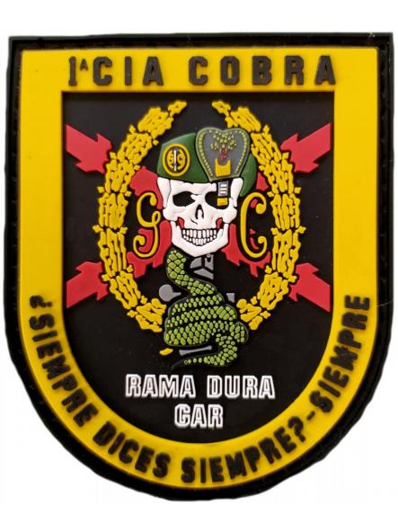 Guardia Civil GAR 1 Compañía Cobra rama dura siempre dices siempre - parche insignia emblema distintivo