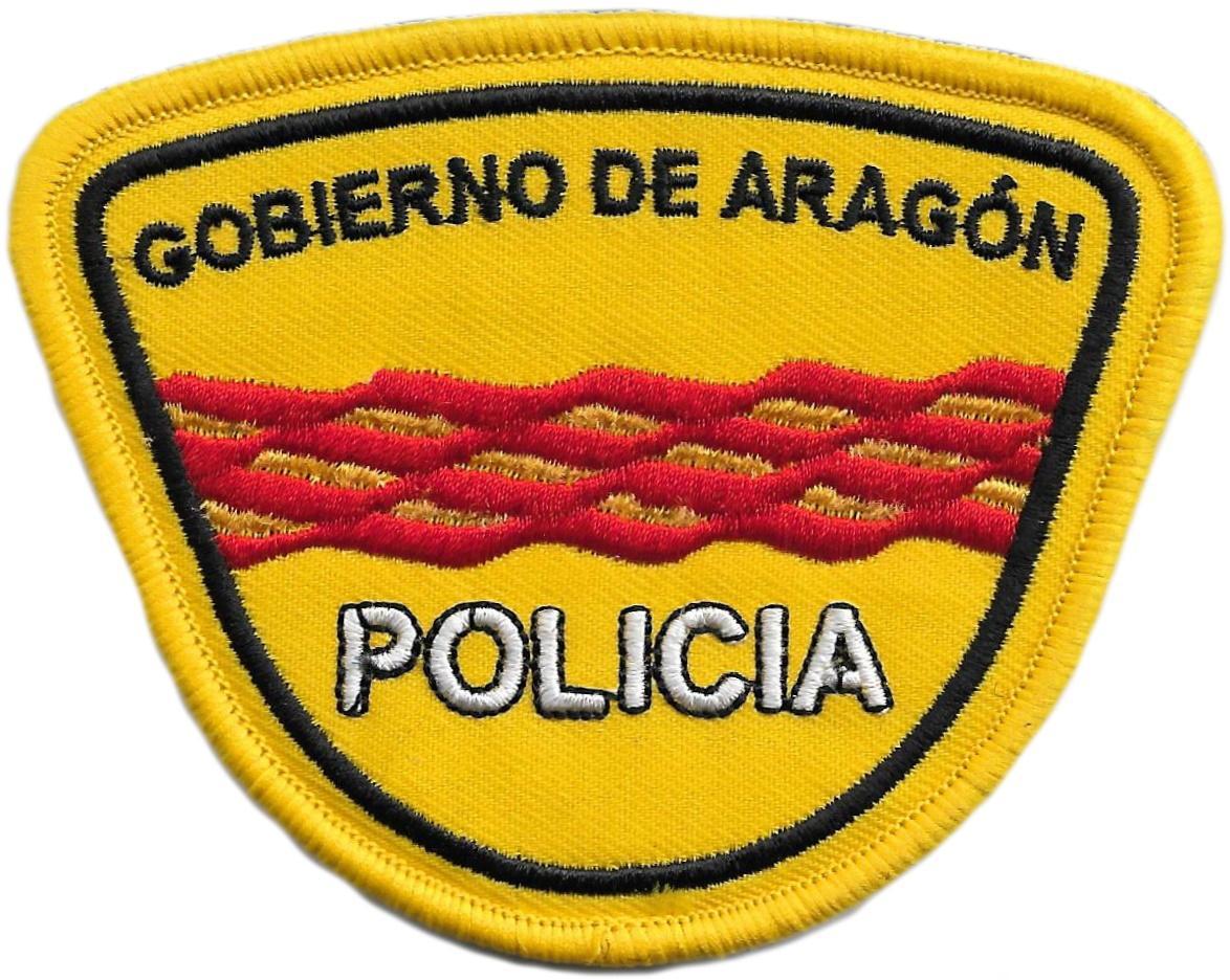 POLICÍA NACIONAL CNP UNIDAD ADSCRITA AL GOBIERNO DE ARAGÓN PARCHE INSIGNIA EMBLEMA DISTINTIVO
