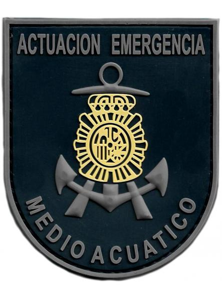 Policía nacional CNP actuación de emergencia en medio acuático parche insignia emblema distintivo