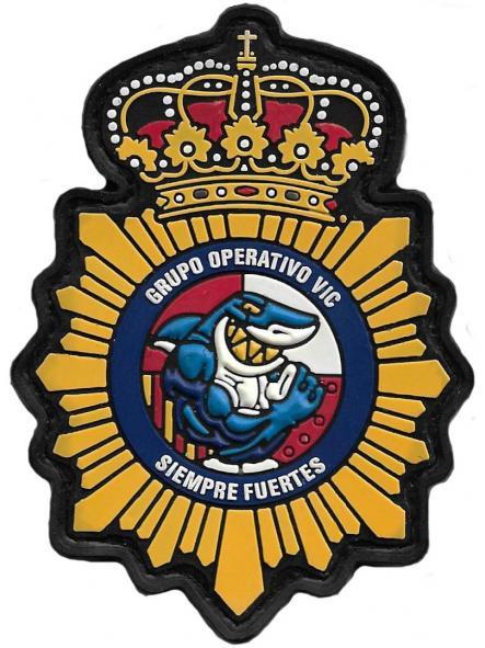 POLICÍA NACIONAL CNP GRUPO OPERATIVO DE VIC PARCHE INSIGNIA EMBLEMA DISTINTIVO