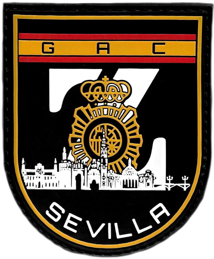POLICÍA NACIONAL CNP GRUPO ATENCIÓN AL CIUDADANO GAC SEVILLA ZETA PARCHE INSIGNIA EMBLEMA DISTINTIVO