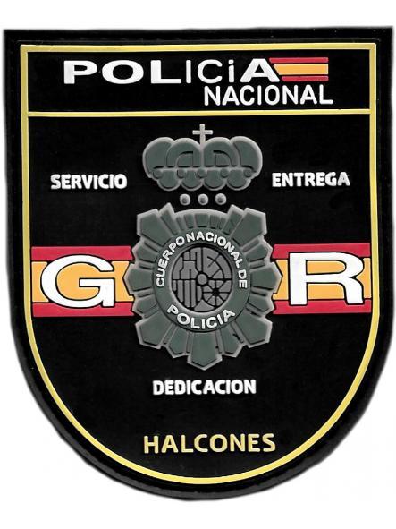POLICÍA NACIONAL CNP GRUPO OPERATIVO DE RESPUESTA GOR HALCONES PARCHE INSIGNIA EMBLEMA DISTINTIVO [0]