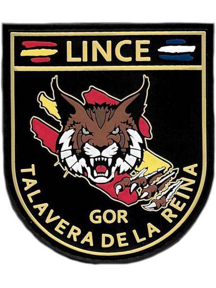 POLICÍA NACIONAL CNP GRUPO OPERATIVO DE RESPUESTA GOR LINCE TALAVERA DE LA REINA PARCHE INSIGNIA EMBLEMA DISTINTIVO