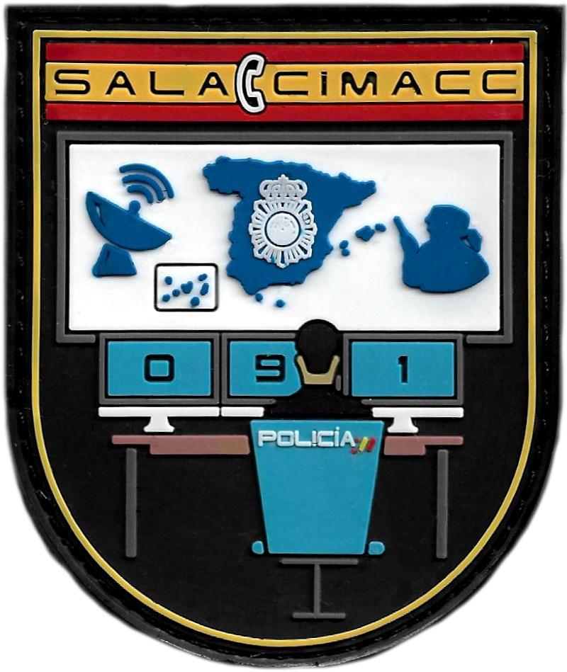 POLICÍA NACIONAL CNP SALA 091 CIMACC CENTRO INTELIGENTE DE MANDO COMUNICACIÓN Y CONTROL PARCHE INSIGNIA EMBLEMA DISTINTIVO