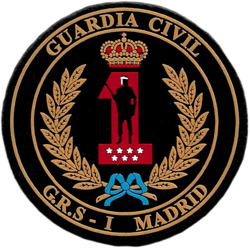 Guardia civil grupo de reserva y seguridad GRS 1 Madrid parche insignia emblema distintivo