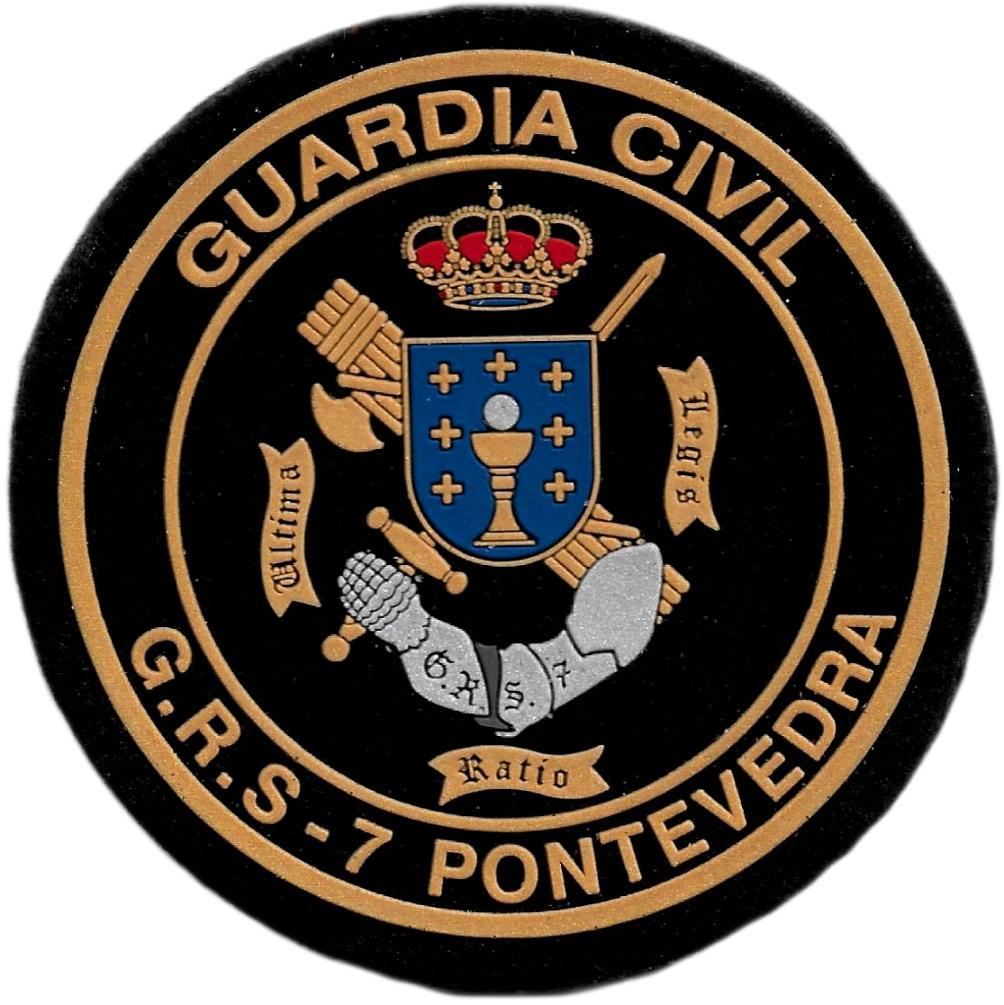 Guardia civil grupo de reserva y seguridad GRS 7 Pontevedra parche insignia emblema distintivo