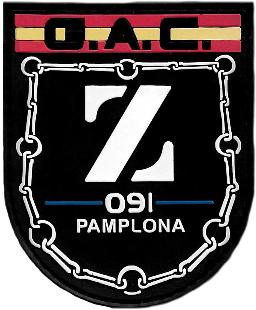 Policía Nacional CNP Grupo de Atención al Ciudadano GAC Pamplona parche insignia emblema distintivo