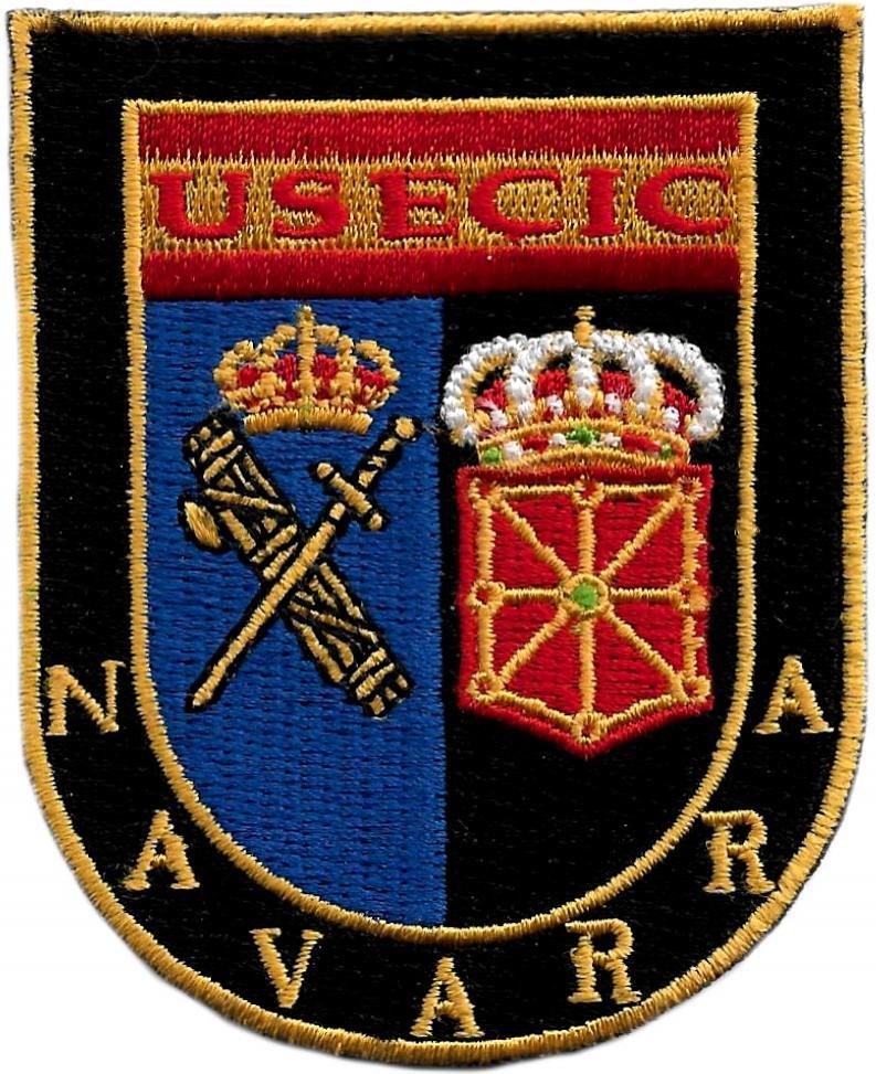 Guardia Civil Usecic Navarra parche insignia emblema distintivo bordado