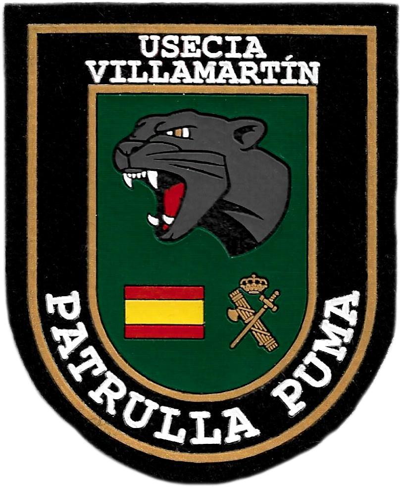Guardia Civil Usecia Villamartín Patrulla Puma parche insignia emblema distintivo