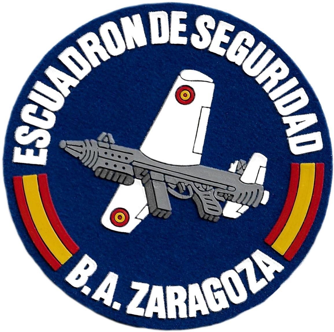 Ejército del Aire Escuadrón de Seguridad Base Aérea de Zaragoza parche insignia emblema distintivo