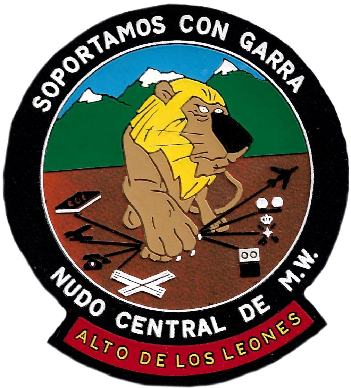 Ejército de Tierra Nudo Central de MW Soportamos con garra Alto de los Leones parche insignia emblema distintivo