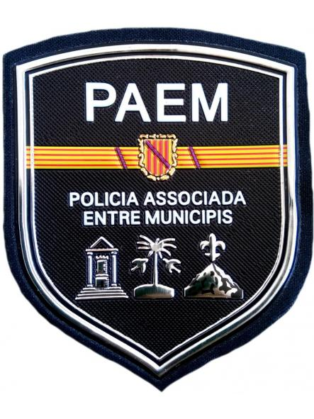 Policía Local Asociada entre Municipios Paem parche insignia emblema distintivo