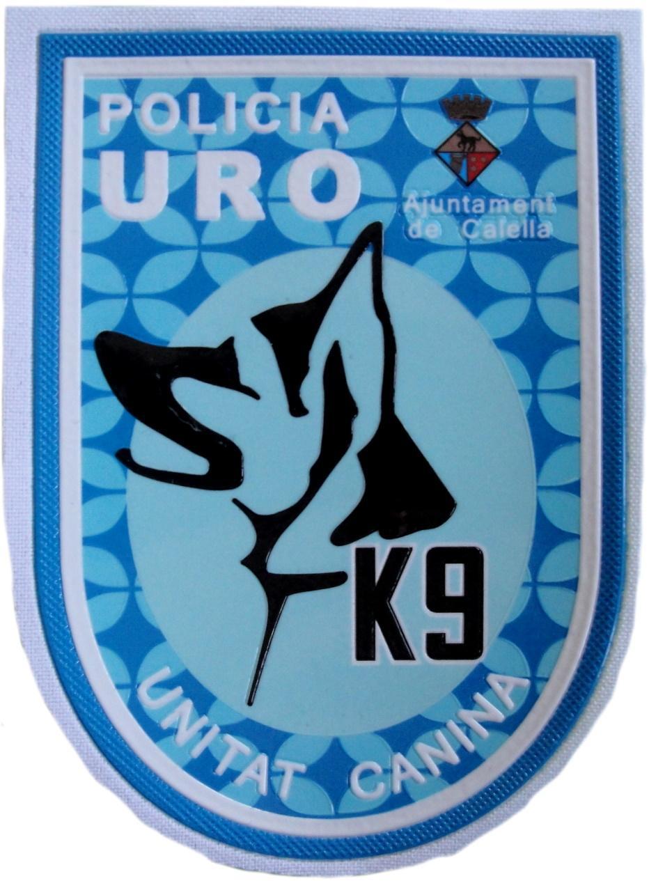 Policía Local Calella URO Unitat canina k-9 parche insignia emblema distintivo