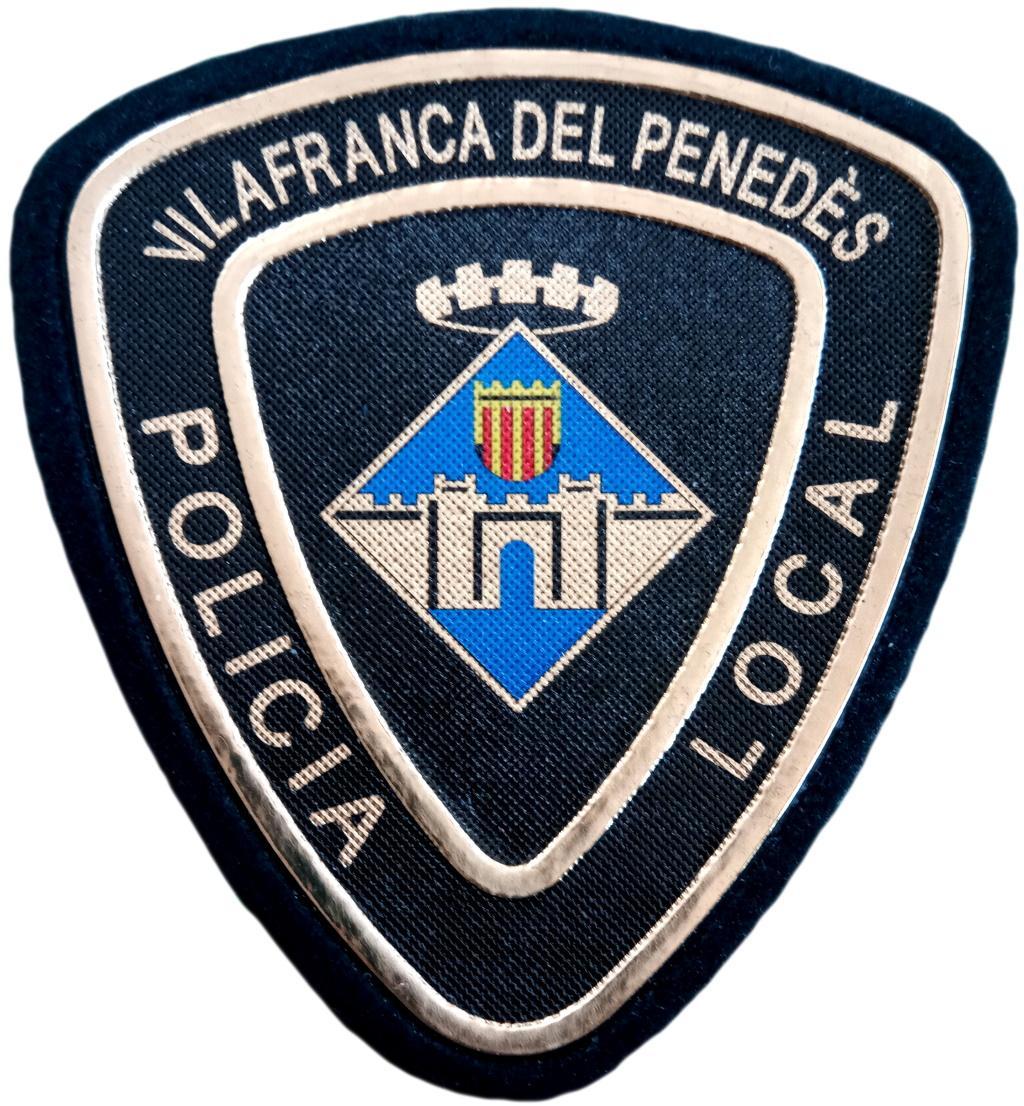 POLICÍA LOCAL DE VILAFRANCA DEL PENEDÉS PARCHE INSIGNIA EMBLEMA DISTINTIVO