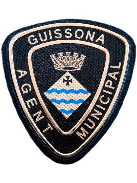 POLICÍA AGENTE MUNICIPAL GUISSONA PARCHE INSIGNIA EMBLEMA DISTINTIVO