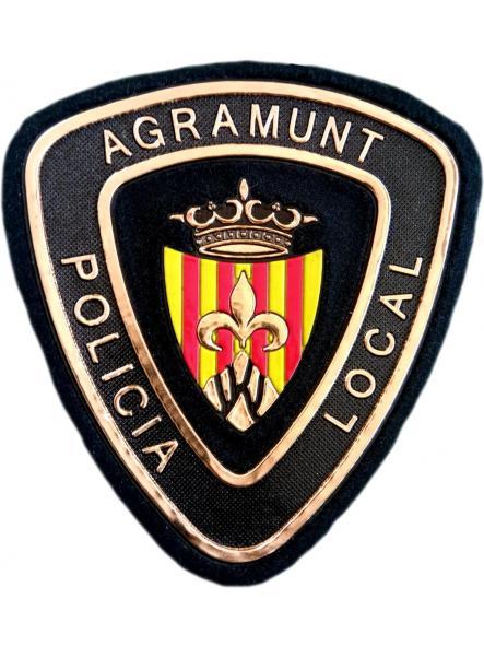 POLICÍA LOCAL DE AGRAMUNT PARCHE INSIGNIA EMBLEMA DISTINTIVO