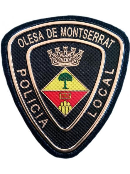 POLICÍA LOCAL DE OLESA DE MONTSERRAT PARCHE INSIGNIA EMBLEMA DISTINTIVO