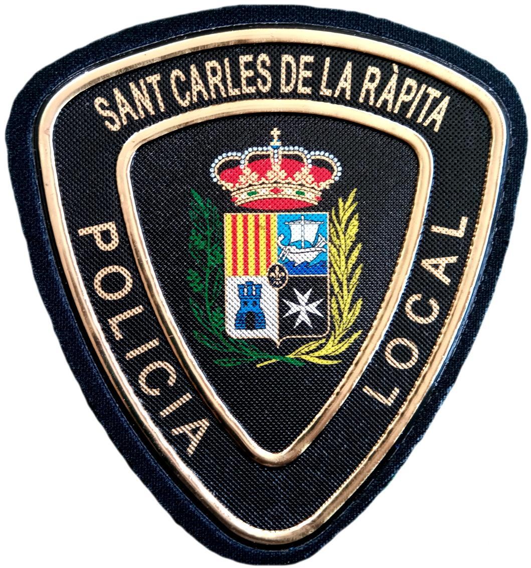 POLICÍA LOCAL SANT CARLES DE LA RAPITA PARCHE INSIGNIA EMBLEMA DISTINTIVO