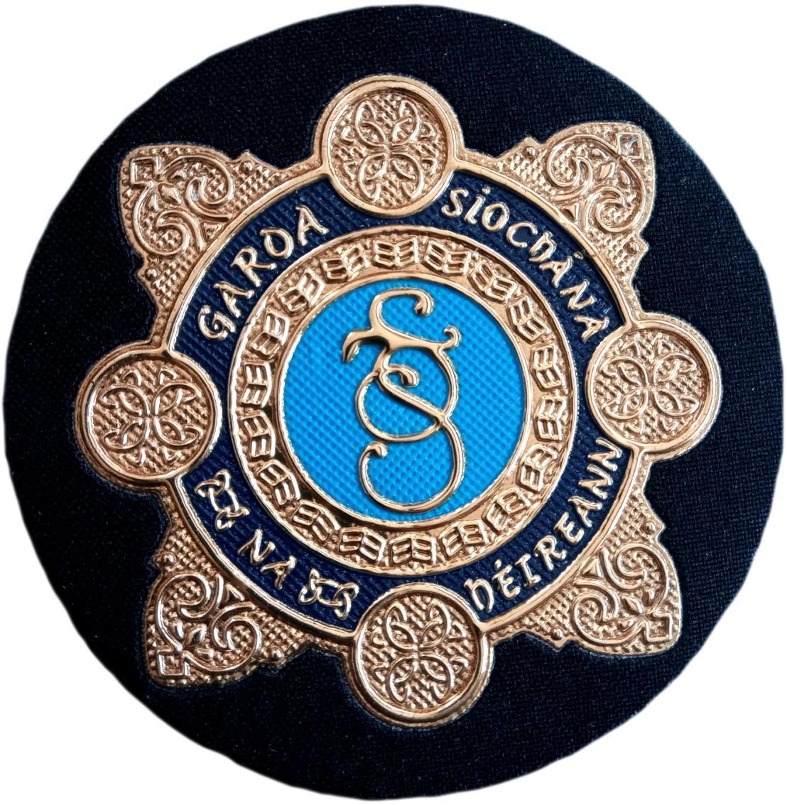 POLICÍA DE IRLANDA GARDA SIOCHANA IRELAND EIRE POLICE PARCHE INSIGINIA EMBLEMA DISTINTIVO