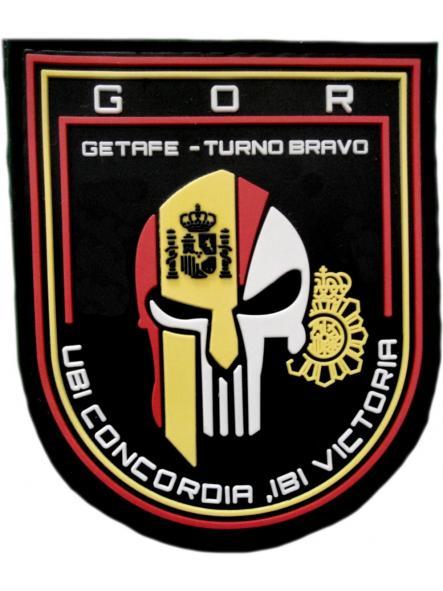 POLICÍA NACIONAL CNP GRUPO OPERATIVO DE RESPUESTA GOR GETAFE TURNO BRAVO PARCHE INSIGNIA EMBLEMA DISTINTIVO