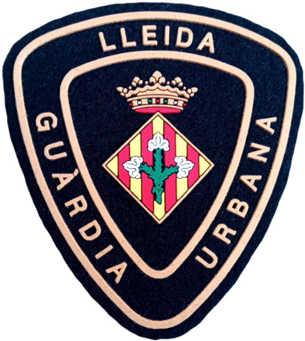 POLICÍA GUARDIA URBANA DE LÉRIDA LLEIDA PARCHE INSIGNIA EMBLEMA DISTINTIVO