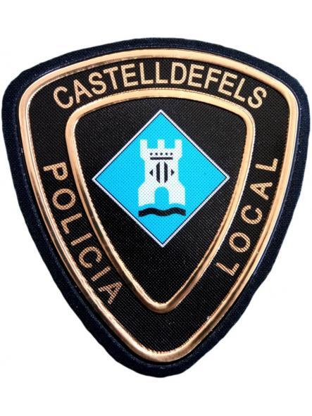 POLICÍA LOCAL CASTELLDEFELS PARCHE INSIGNIA EMBLEMA DISTINTIVO