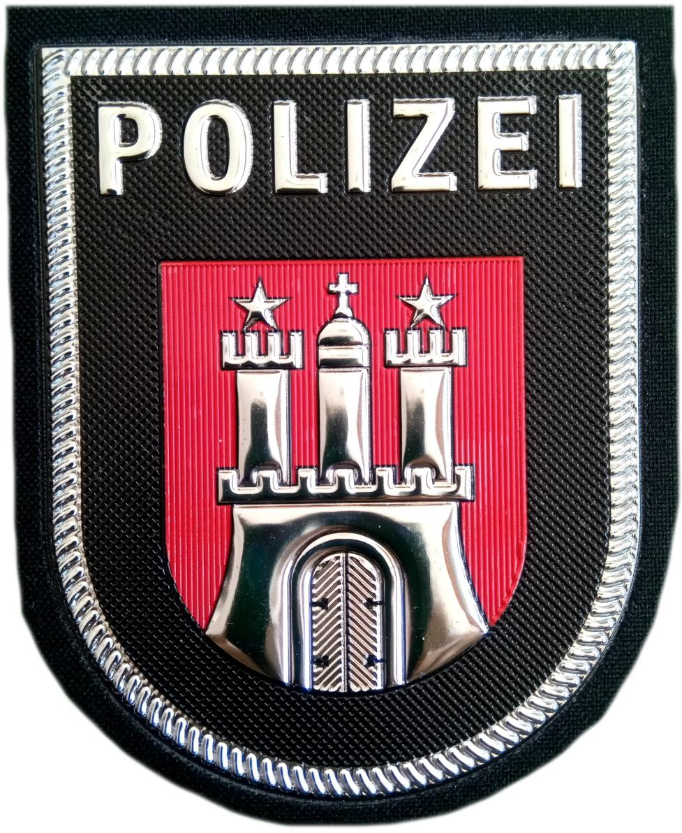 POLICÍA ALEMANIA ESTADO DE HAMBURG LANDER PARCHE INSIGINIA EMBLEMA DISTINTIVO