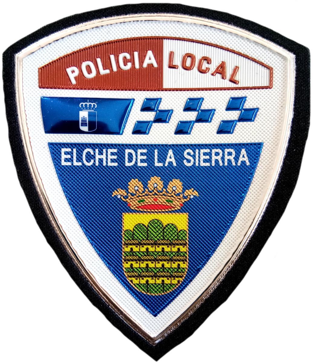 POLICÍA LOCAL ELCHE DE LA SIERRA PARCHE INSIGNIA EMBLEMA DISTINTIVO