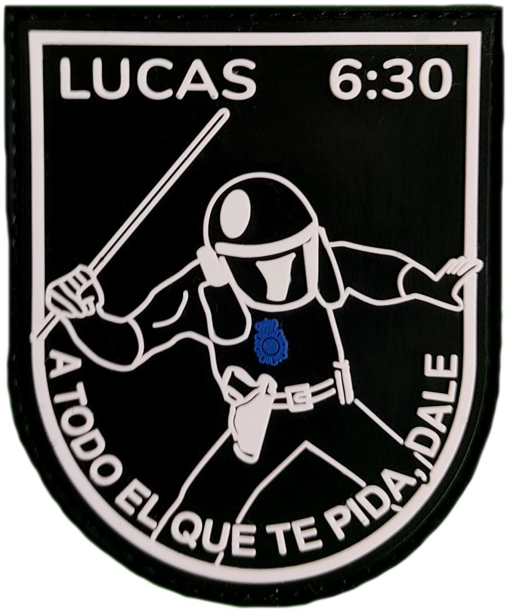 Policía Nacional CNP Lucas 6:30 a todo el que te pida, dale parche insignia emblema distintivo