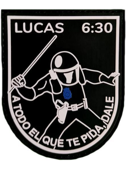 Policía Nacional CNP Lucas 6:30 a todo el que te pida, dale parche insignia emblema distintivo [0]
