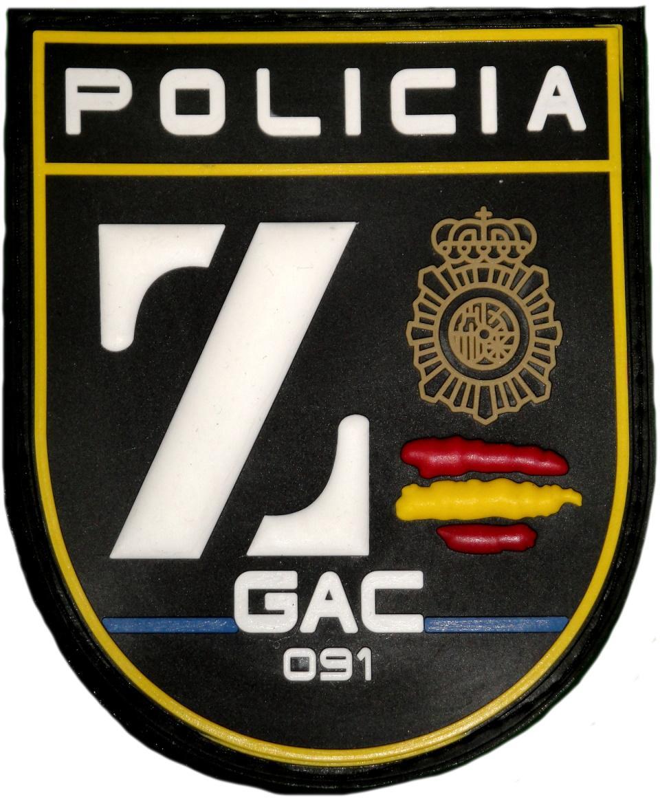 Policía nacional CNP grupo de atención al ciudadano zeta GAC Badajoz parche insignia emblema distintivo