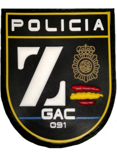 POLICÍA NACIONAL CNP GRUPO ATENCIÓN AL CIUDADANO ZETA GAC BADAJOZ PARCHE INSIGNIA EMBLEMA DISTINTIVO