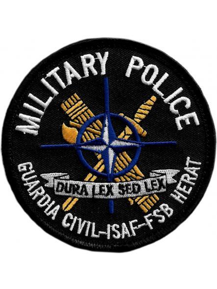 GUARDIA CIVIL MILITARY POLICE ISAF FSB HERAT PARCHE INSIGNIA EMBLEMA DISTINTIVO