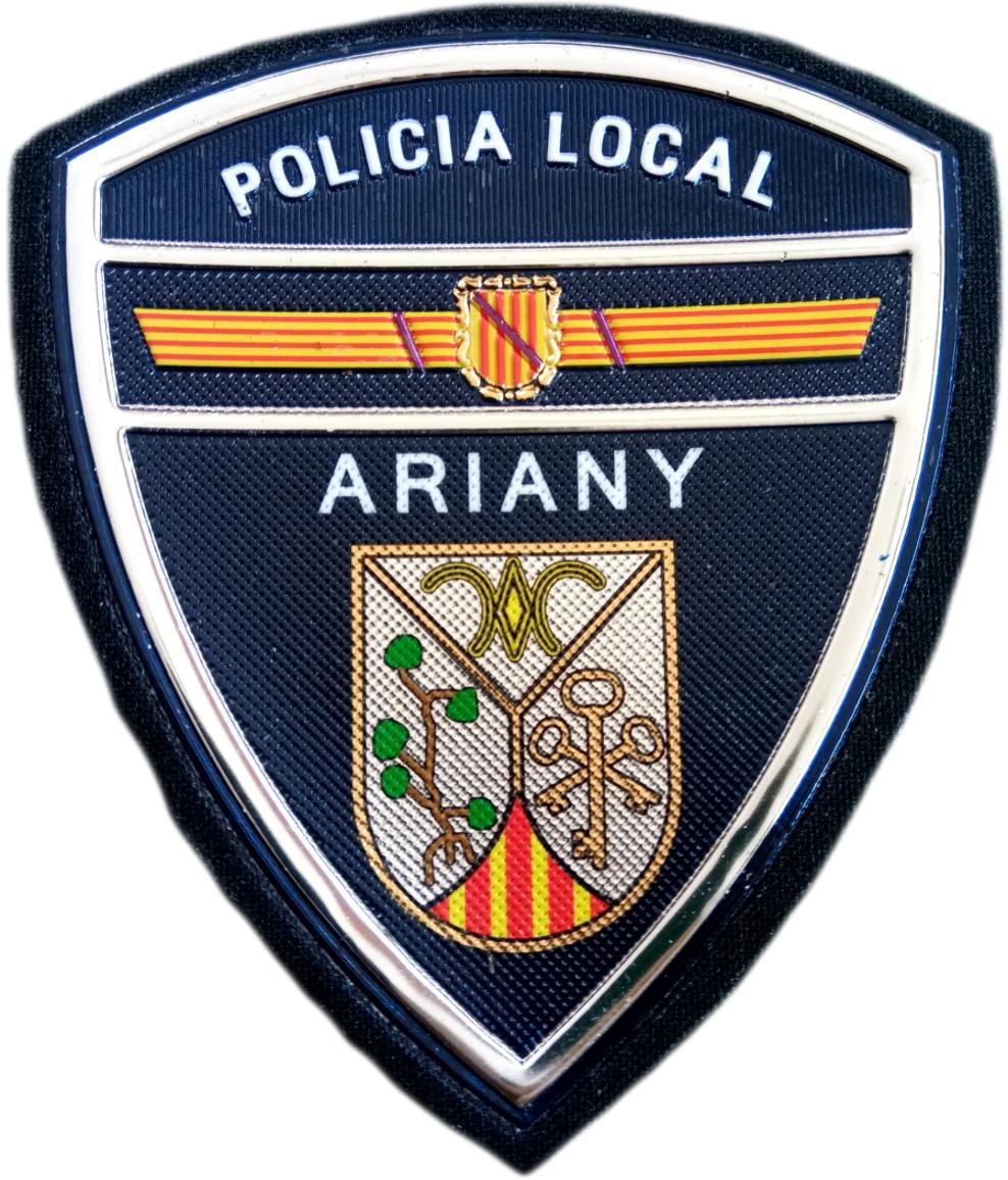 Policía Local Ariany parche insignia emblema distintivo