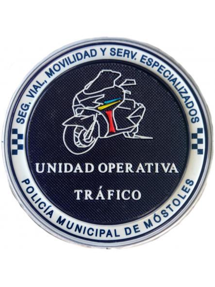 Policía Municipal de Móstoles Unidad operativa de Tráfico parche insignia emblema distintivo