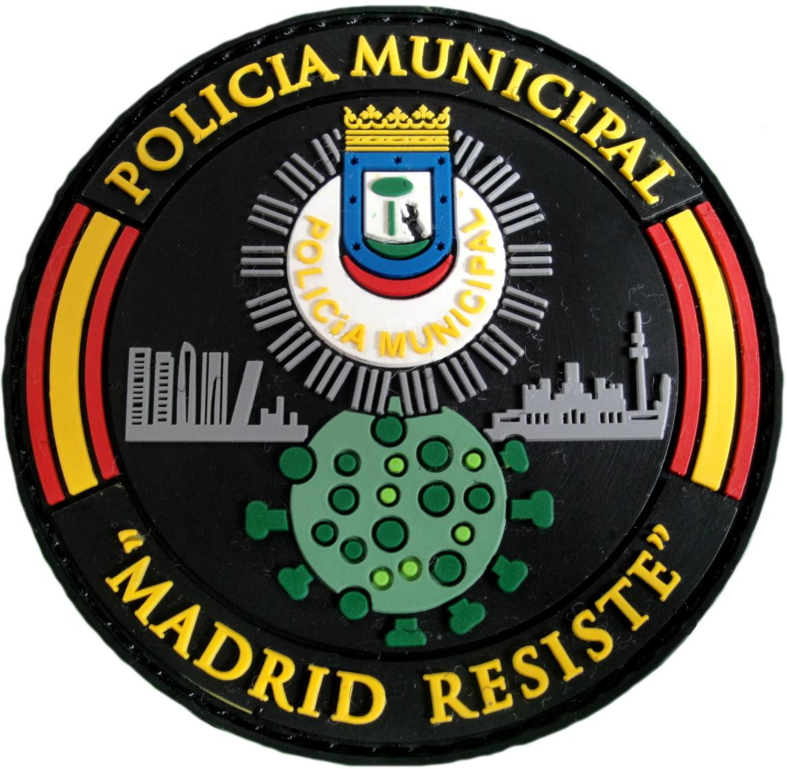 Policía Municipal Madrid Covid 19 Madrid resiste parche insignia emblema distintivo