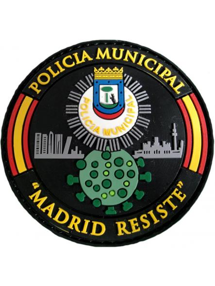 Policía Municipal Madrid Covid 19 Madrid resiste parche insignia emblema distintivo [0]