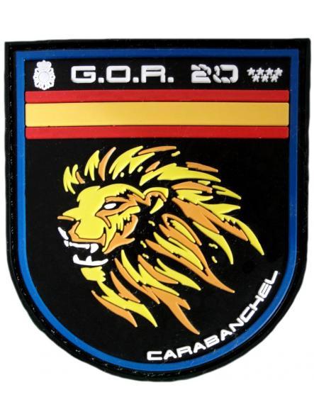 Policía Nacional CNP Grupo Operativo de Respuesta GOR 20 Carabanchel noches parche insignia emblema distintivo