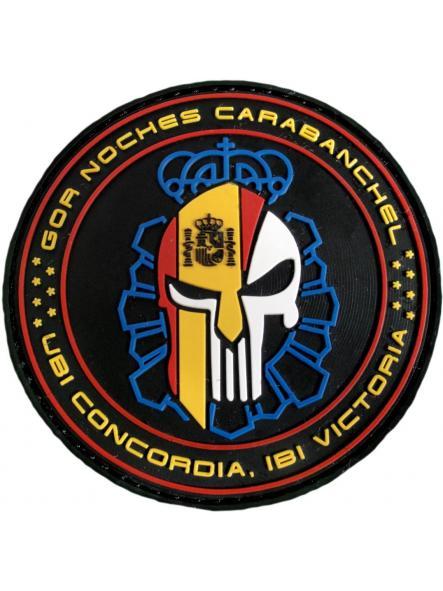 POLICÍA NACIONAL CNP GRUPO OPERATIVO DE RESPUESTA GOR CARABANCHEL NOCHES PARCHE INSIGNIA EMBLEMA DISTINTIVO