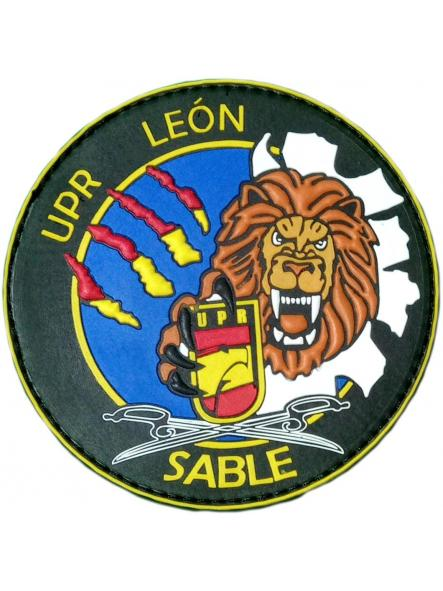 POLICÍA NACIONAL CNP UPR UNIDAD DE PREVENCIÓN Y REACCIÓN LEON SABLES PARCHE INSIGNIA EMBLEMA DISTINTIVO