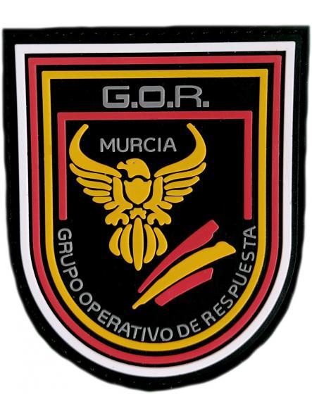 Policía Nacional CNP Grupo operativo de respuesta GOR Murcia parche insignia emblema distintivo