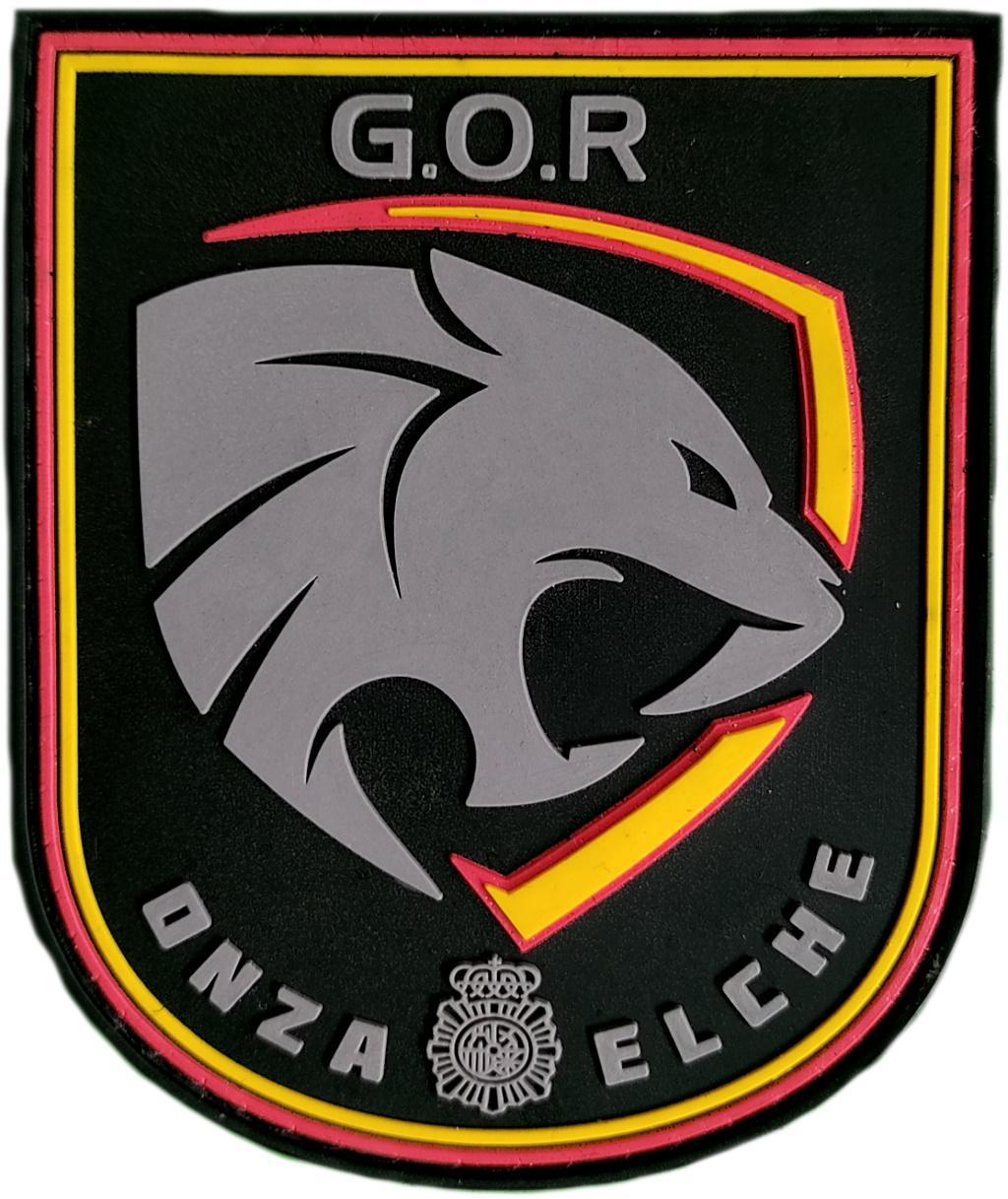 Policía Nacional CNP Grupo operativo de respuesta GOR Onza Elche parche insignia emblema distintivo