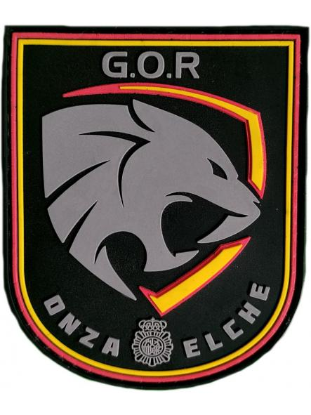 Policía Nacional CNP Grupo operativo de respuesta GOR Onza Elche parche insignia emblema distintivo [0]
