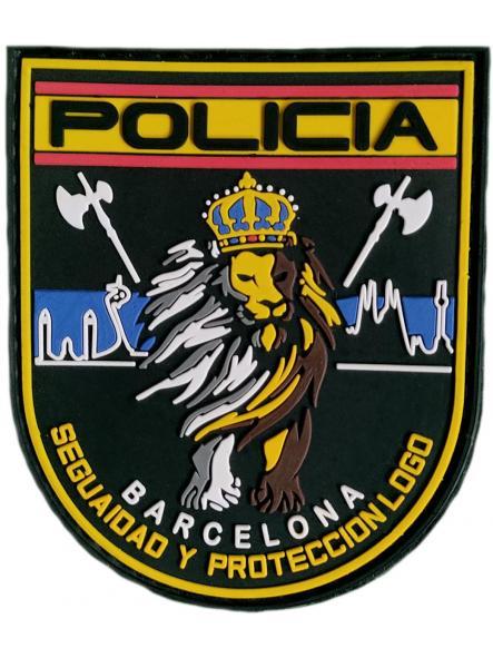 Policía Nacional CNP Barcelona Seguridad y Protección parche insignia emblema distintivo [0]