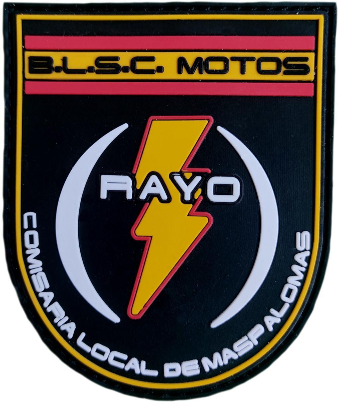 Policía Nacional CNP BLSC Maspalomas motos indicativo Rayo parche insignia emblema distintivo