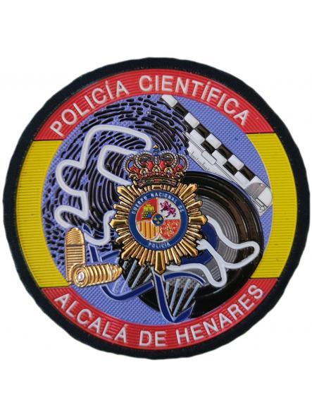 Policía Nacional CNP Científica Alcalá de Henares parche insignia emblema distintivo