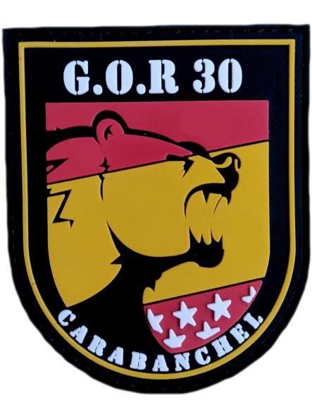 Policía Nacional CNP Grupo Operativo de Respuesta GOR 30 Carabanchel noches parche insignia emblema distintivo