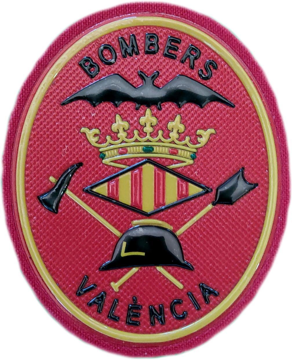 Bomberos de la ciudad de Valencia parche insignia emblema distintivo