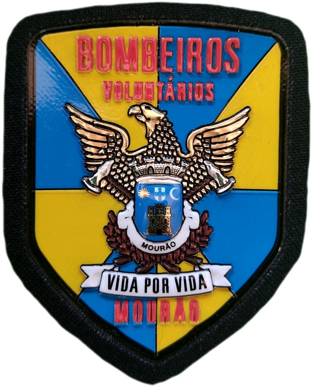 Bomberos Voluntarios Mourao Portugal parche insignia emblema distintivo